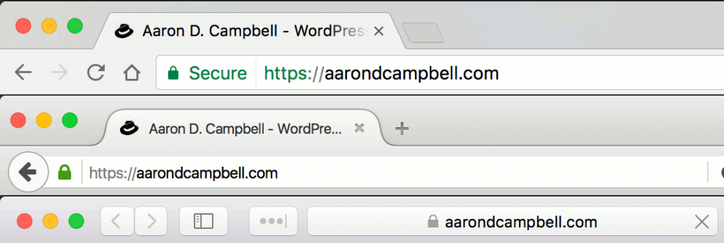 SSL Certificates add a visual cue to browser bars, reinforcing a user's security